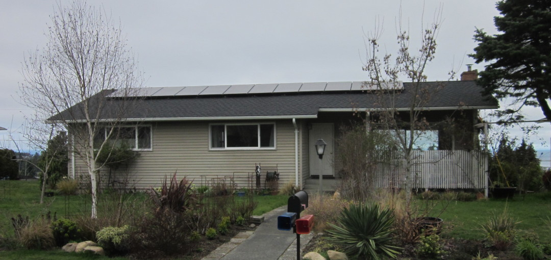 Hildal-Washburne Residence, 3.3 KW Solar World, Port Angeles, 2015