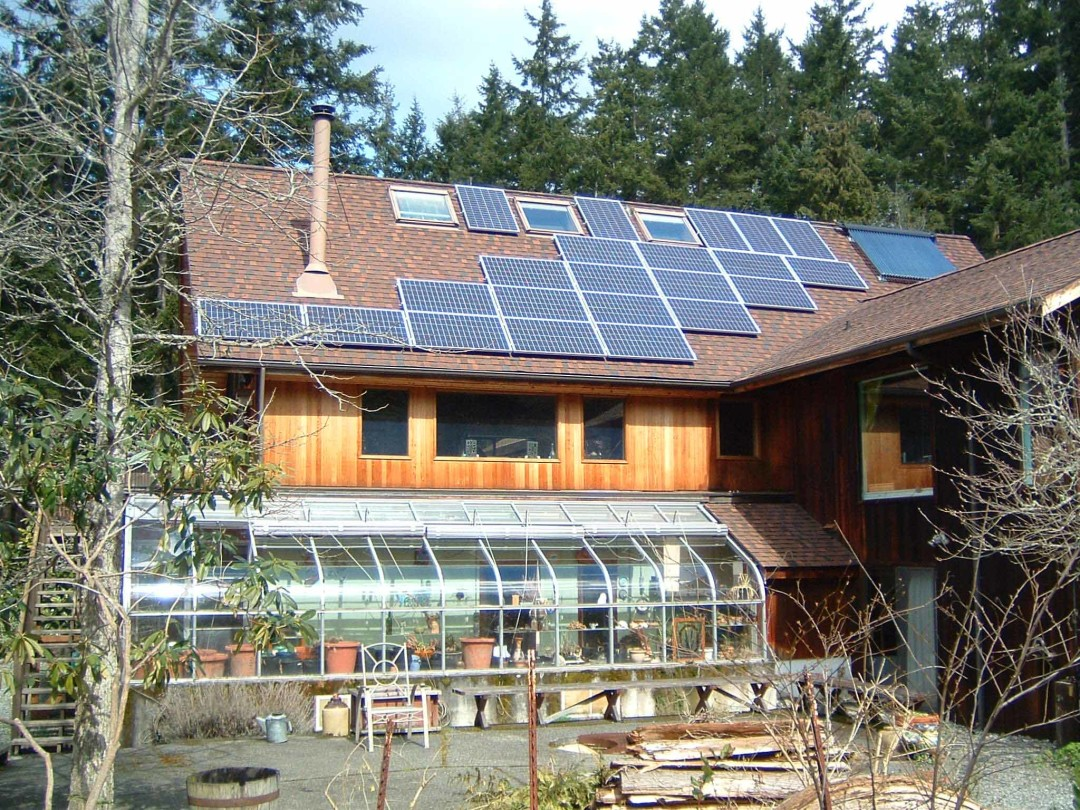Evans Residence, 4.18 KW, Port Townsend, 2008