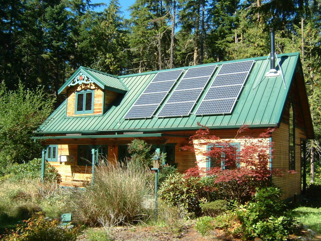 Finney Residence, 2.16 KW, just outside Port Townsend, 2007