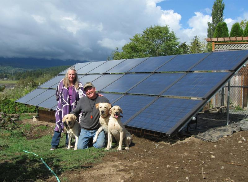 Gunther Residence, 3.675 KW, Quilcene, 2010