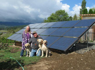 Ground mounted 3.7 kW Silicon Energy array in Quilcene, WA.