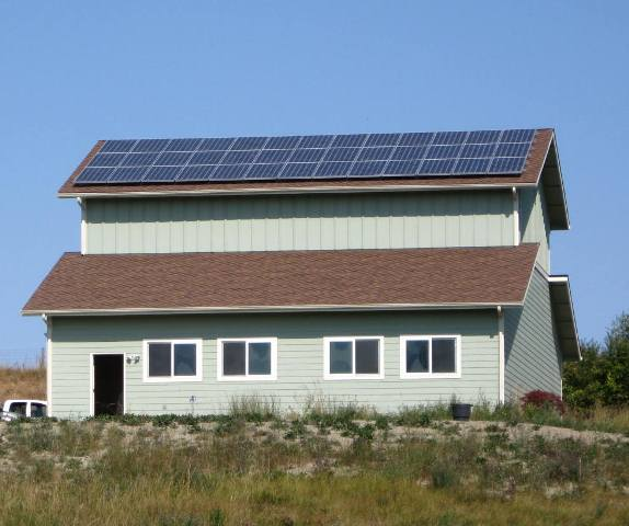 Hill Residence, 9.36 KW, Sequim, 2011
