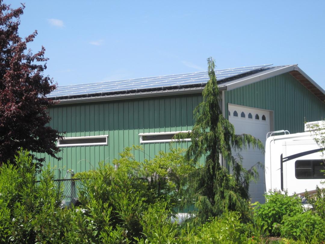 Grad Residence, 9.8 KW Solar World, Sequim, 2015