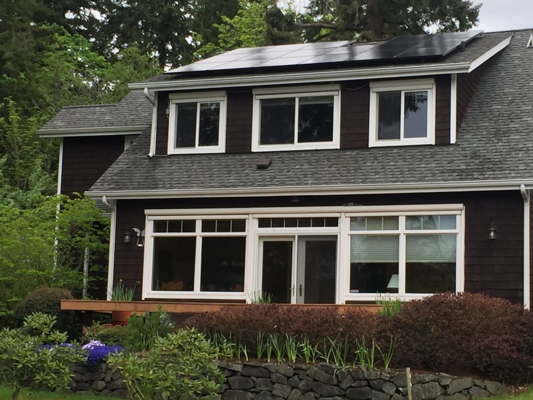 Robertson Residence, 9.72 KW, Port Townsend, 2017