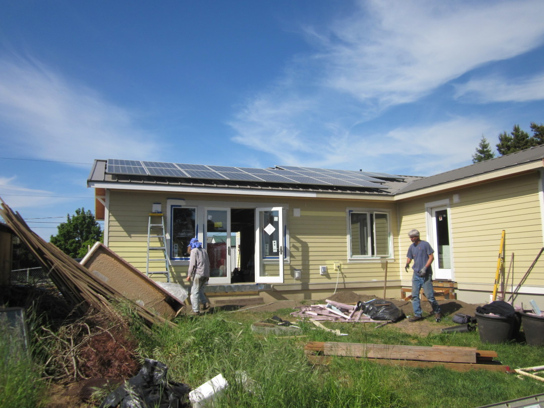 Given-Riley Residence, 6.05 KW Solar World, Port Townsend, 2015