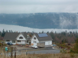2004 pv installation during new home construction.  Residence overlooks Sequim Bay.
