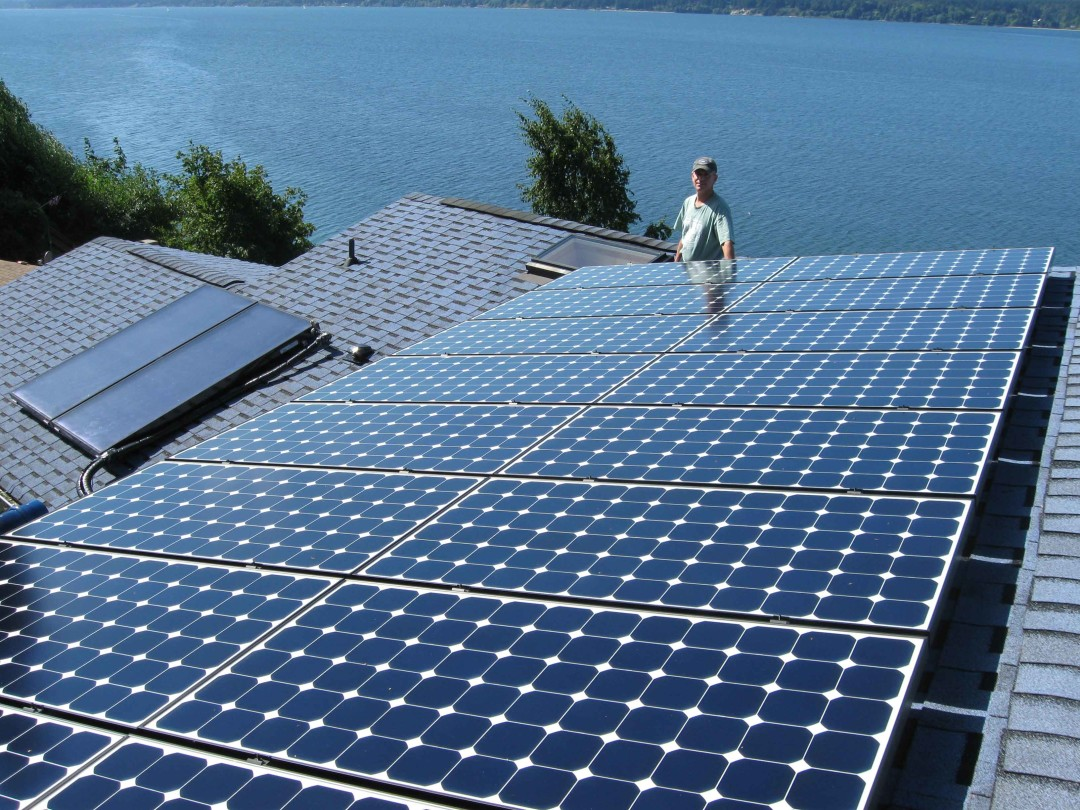 Paly Residence, 5.805 KW, Gig Harbor, 2009