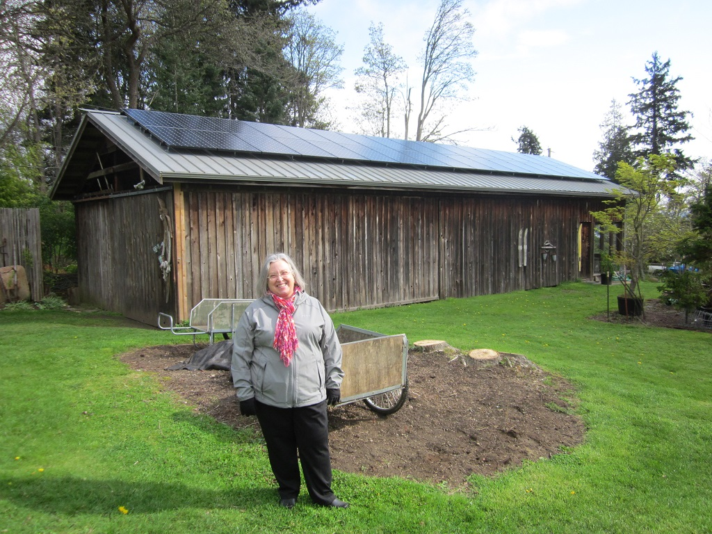 11 KW of SunPower PV at Nancy's house in Kingston, WA