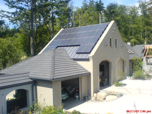 Swater Residence, 5.6 KW, Hansville, 2007