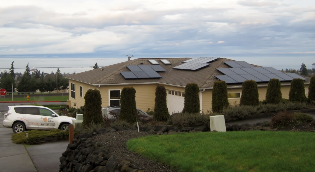 Pape Residence, 9.38 KW, Port Angeles, 2015