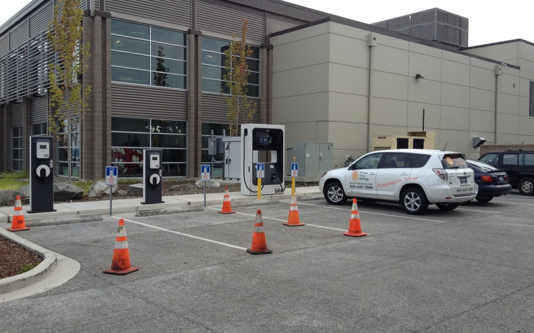 Electric Site Eval Rig & EV Chargers Springing up in Port Townsend and Silverdale