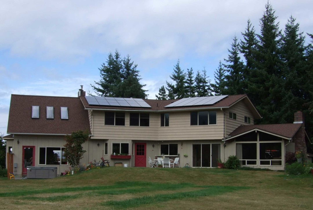 Turner Residence, 6.42 KW, Port Angeles, 2008
