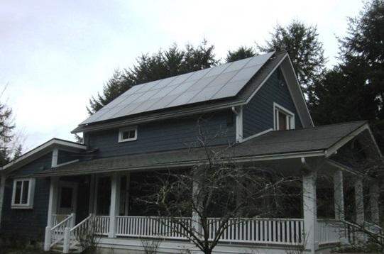 Stowell Residence, 7.85 KW, Bainbridge Island, 2014